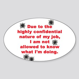 Confidential Job Oval Sticker